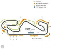 map with grandstands & F1 Paddock Club  <br /> Circuit de Barcelona-Catalunya