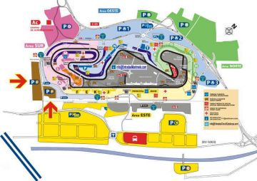 Map Circuit de Barcelona-Catalunya <br>  location car parking-F Catalunya Circuit<br> F1 ticket Grand Prix Spain Parking F