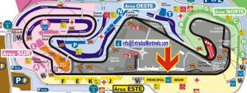 Map Circuit de Barcelona-Catalunya <br>  location GOLD SUITES - GOLD MEMBER Montmelo <br> Spanish Formula 1 Grand Prix VIP tickets