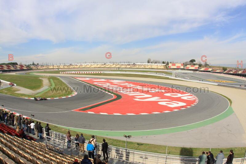 Grandstand-C, Circuit de Catalunya - Tickets GP Barcelona