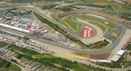Birds-eye view of CircuitCatalunya
