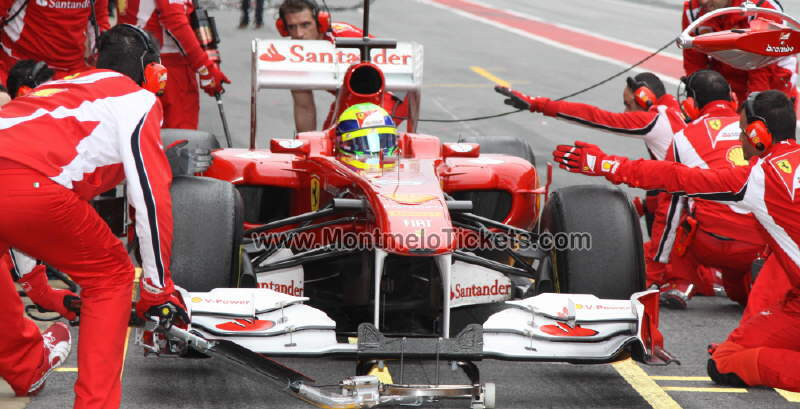 Felipe Massa on Circuit de Catalunya