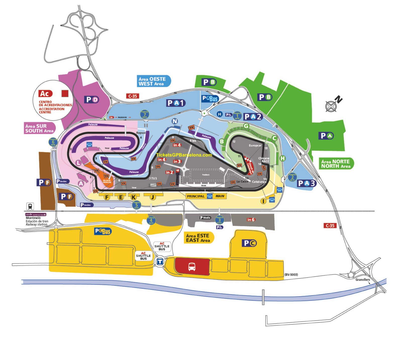 Circuit de Catalunya - Montmelo (Barcelona) - Tickets GP Barcelona